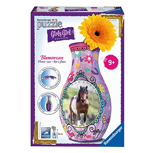 Ravensburger 12052 3D-Puzzle Girly Girl Edition Blumenvase Pferde