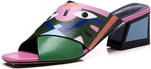 Magosca Sexy Femmes Talons Escarpins Mode Décontracté Imprime Parti Chaussures De Mariage Femme Confortable Et Léger Qualité PU en Peau De Mouton Fond Doux en Cuir D'été Sandales Pompes