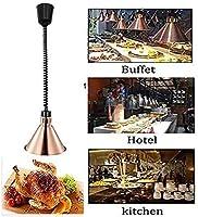 OESFL レトロな保温ランプメタル天井ランプ高さ調節可能な調節可能な食品の加熱ランプは、カフェテリア/ホテル/パーティーのために使用されます (Color : Brass)