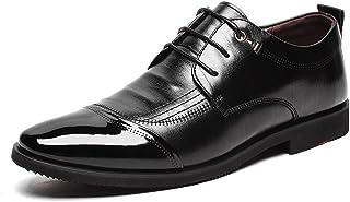Dingziyue - Scarpe da uomo da uomo in microfibra a punta classica (colore: nero, taglia 44)