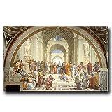 mmzki Decoración de la habitación estética Pintura Famosa Escuela de Arte de Atenas por Carteles e Impresiones Lienzo Pintura Cuadros Arte de la Pared Imagen Decoración para el hogar Cuadros No Frame