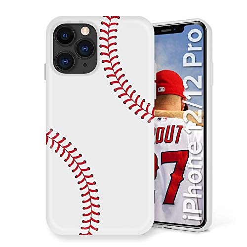 Litech Baseball Case [Flexfit] Premium Protective Sports Pattern Creative Artistic Case for Apple iPhone 12, iPhone 12 Pro (2020)