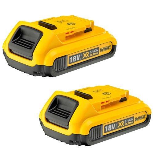 DeWalt 2 x DCB183 18V XR 2.0ah Batería para DCD785, DCD985, DCF885, DCS391, DCS331, 18 V