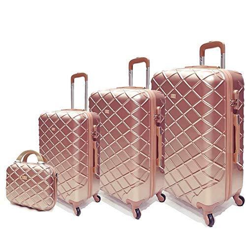 MZH Passenger trolley hard luggage bag set Rose gold
