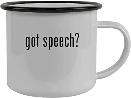 got speech? - Stainless Steel 12oz Camping Mug, Black