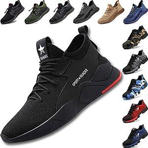 5159vpbNjoL. SS300  - Zapatos de Seguridad Hombre con Punta de Acero, Cómodas Ultraligero & Transpirables, 36-48