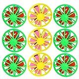 Hakka 10 Sets Niños Silbatos Juguetes Ventilador de Juguete Ventiladores de Enfriamiento Juguetes de Verano Al Aire Libre para Fiesta de Cumpleaños Goody Bag Fillers Juegos Supervivencia