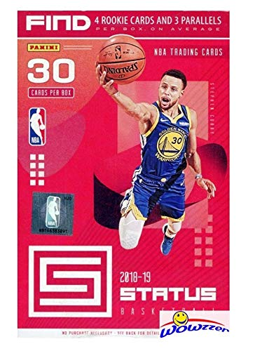 2018/19 Panini Status NBA Basketball EXCLUSIVE Factory Sealed HANGER Box with (4) Rookie Cards & (3) PARALLELS! Look for Rookies & Autos of Luka Doncic, Trae Young, Deandre Ayton & More! WOWZZER!