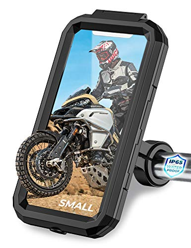 Orcas Motorbike Phone Holder Waterproof - Phone Holder for Mountain Bike, Scooter, Ebike, Mtb 360° Adjustable, 4' up to 5.8' Mobile Holder for Cycling, Fits IPhone 11, Samsung, Oneplus, Xiaomi…