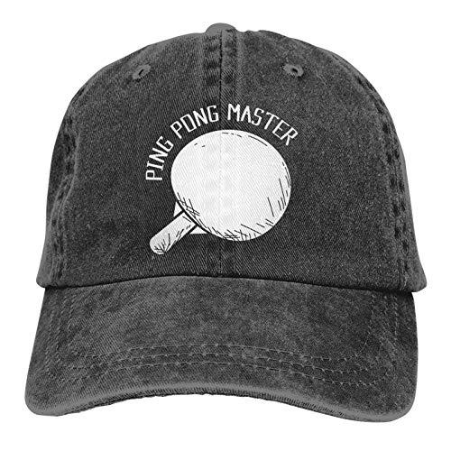 newbilly Sombrero Casual Unisex Ajustable del Sombrero del Camionero del Sombrero de béisbol del Vaquero de la impresión 3D Ping Pong Master