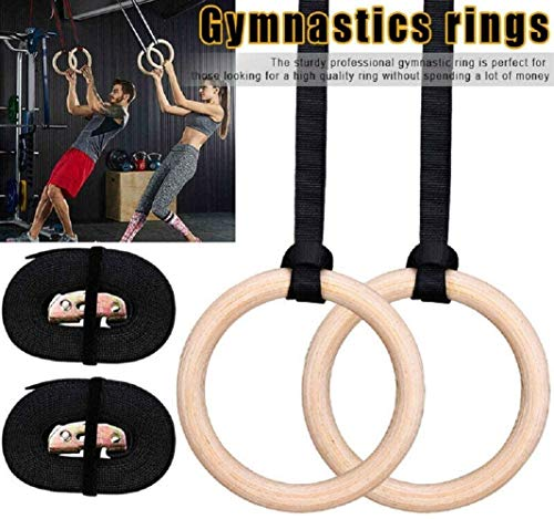 Lcb Turnringe Sundried Holzturnringe mit Straps Fitnessstudio Ringe Gymnastik Sport Dip Ringe