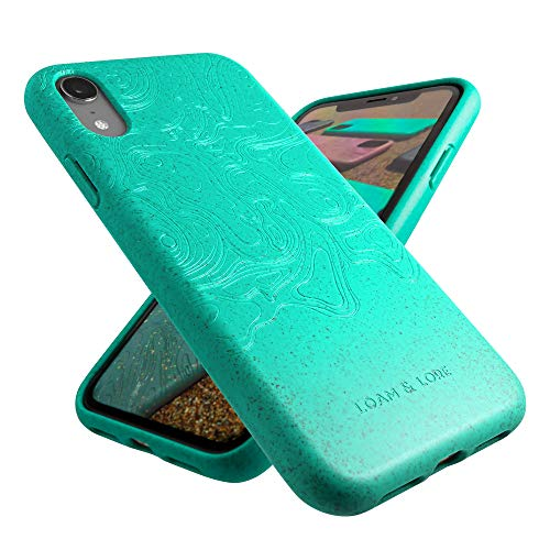Loam & Lore - Biodegradable and Compostable Eco iPhone XR Case, Plant Based and Sustainable Protective Zero Waste Plastic Free Vegan Phone Cover (Mint)
