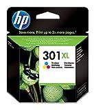 HP 301XL CH564EE, Tricolor, Cartucho de Tinta de Alta Capacidad Original, Compatible con impresoras de inyección de tinta HP DeskJet 1050,2540,3050; OfficeJet 2620,4630; ENVY 4500, 5530