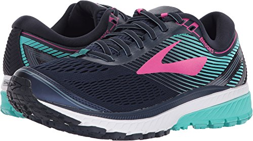 Brooks Ghost 10 Women's Running 8.5 B(M) US Navy-Pink-Teal