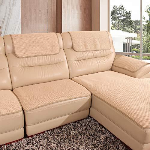 XUELIAIKEE Anti-Rutsch Sofaüberdurf,L-Form Couch Sofabezug Atmungsaktive Waschbar Couch Sofa Übecwürfe Geldklammer Ideal Für Das Leder Sofa Verkauft In Stück-a 70x70cm(28x28inch)