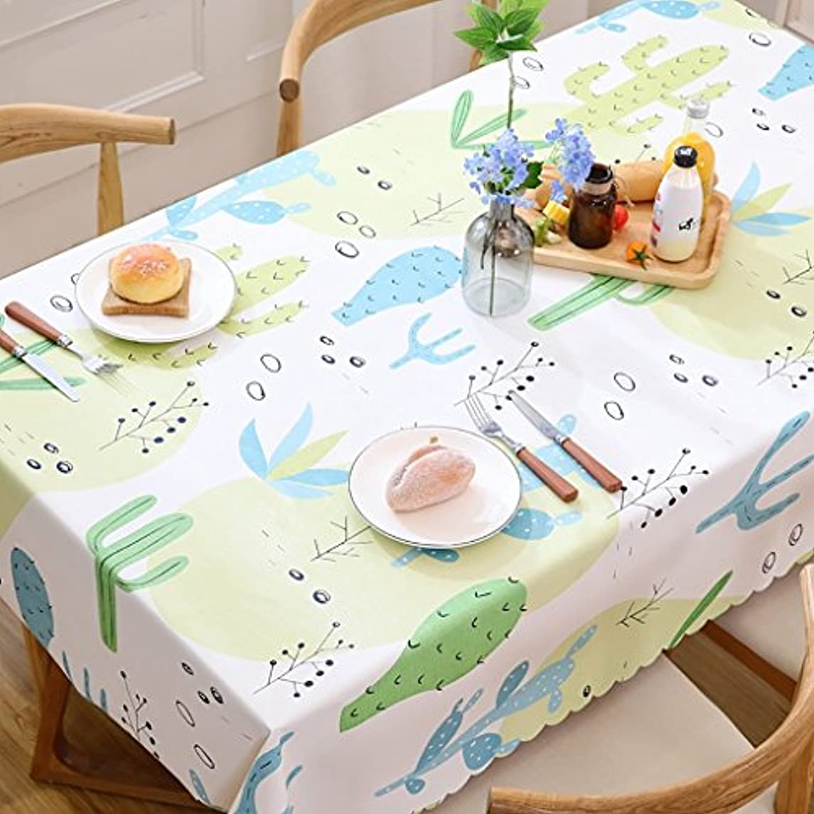 WENJUN Tablecloth Waterproof Oilproof Anti-hot Disposable Table Cloth Cotton Fabric Style PVC Tea Table Cover Tablecloth Household (Color : Style J, Size : 120170cm)