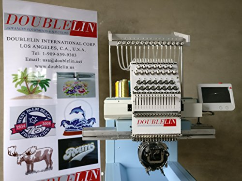 New,Compact Embroidery Machine, Single Head, 15 Needles, New Style, Cap, T-Shirt, no Interfere Area,...