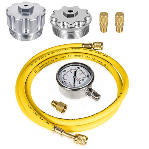 Fuel/Oil Pressure Test Kit with Billet Aluminum Fuel/Oil Filter Cap, Fuel...