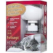 Felisept Home Comfort Set - Das Original - Entspannungsmittel für Katzen mit natürlicher Katzenminze - Starter Set mit Diffusor inkl. Flakon für 30 Tage (1 x 45 ml)