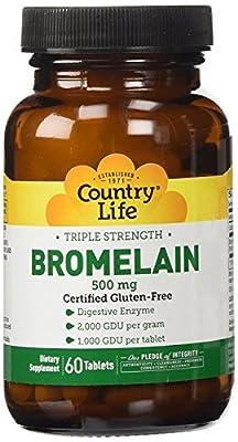 Country Life Natural Bromelain 500 mg 2000 gdu