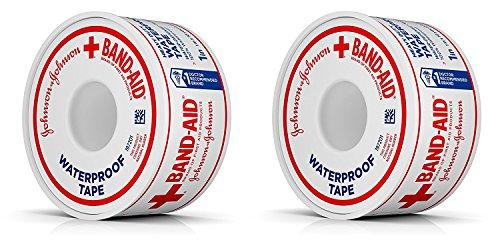 johnson johnson medical tapes Johnson & Johnson First Aid Waterproof Tape (1-Inch x 10-Yards) (Pack of 2)