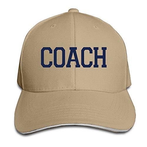 Hittings Coach Sandwich Adjustable Peaked Bill Hat Ash Natural