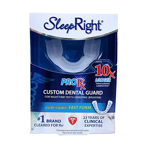 SleepRight ProRx Custom Fit Dental Guard - Helps with Teeth Grinding, Clenching and Bruxism - Provides Maximum Protection