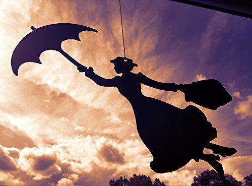 Mary Poppins als Hängefigur Edelrost - Das wohl berühmteste Kindermädchen der Welt jetzt als Edelrost Deko kaufen- Dekofigur von Manufakt-Design