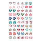 Claire's Club Spring Stick On Earrings, Cute Jewelry for Girls, Assorted Styles, Multicolor, 30 Pack