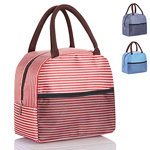 Lunch Bags for Girls, Insulated Fit and Fresh Lunch Box Cooler Tote Bag for Kids and Women Meal Prep (Red)