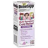 Dimetapp Children's Multi-Symptom Cold Relief Dye-Free Grape Flavored Liquid, 4 Fluid Ounce