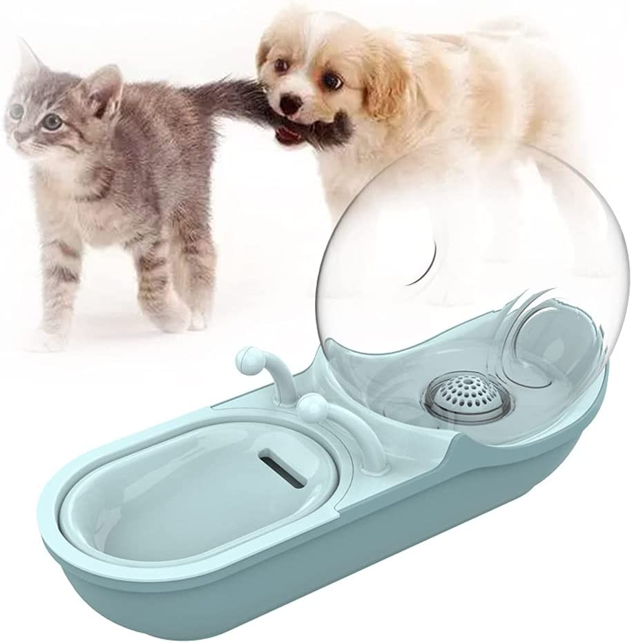 DGDD Fuente de Agua AutomáTica para Gatos, Dispensador de Agua Inteligente Mascotas, Fuente Agua Mascotas Perros, Fuente Mascotas, SúPer Silenciosa, Flujo Agua Ajustable, Ciclo AutomáTico,Azul