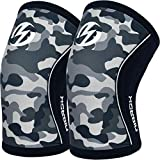 Elbow Sleeves (Pair),Support for Weightlifting,Powerlifting,Squats,Basketball and Tennis,5mm Neoprene Compression Brace for Both Women and Men(Medium)
