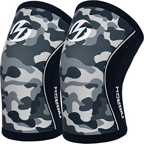 Elbow Sleeves (Pair),Support for Weightlifting,Powerlifting,Squats,Basketball and Tennis,5mm Neoprene Compression Brace for Both Women and Men(Large)
