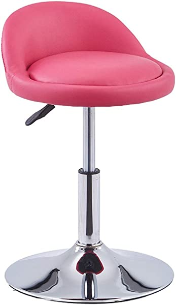 Chair Lift Rotating Backrest High Fashion Simple Bar Home Coffee Multicolor MUMUJIN Color Pink