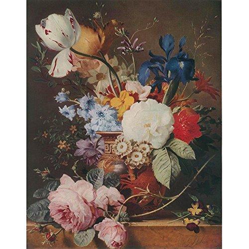 Vase of Mixed Flowers, Jacobus J. Van Os - Medici Drucken