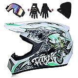 Casques Moto Motocross Casques & Gants & Goggles D. O. T Standard Enfants Quad Bike VTT Go Karting Moto Scooter ATV (52~59cm) -LWAJ