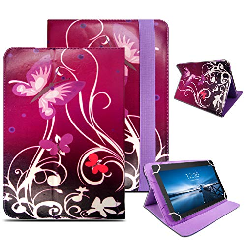 Case for Lenovo Smart Tab M10 / TB-X605F, Leather Smart Stand Folio Flip Cover for Lenovo Tab P10 / M10 10.1 inch (Butterfly On Purple)