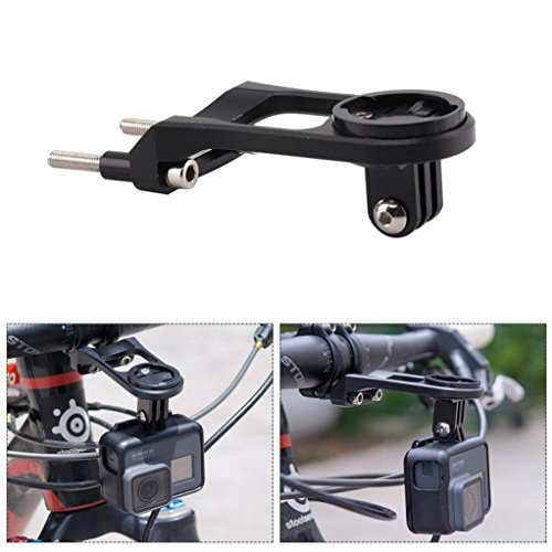 Xshuai® Bike extension Bracket, ordinateur de vélo extension de poignée support de montage extension Bracket, Noir , Size: 86 x 45 x 33 x 36mm/3.3 x 1.7 x 1.3 inch