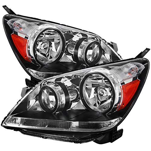 Carpartsinnovate Fit 05-07 Honda Odyssey Replacement Clear Lens Headlights Driving Headlamps Pair