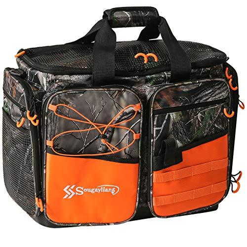 Sougayilang Fishing Tackle Bags - 100% Water-Resistant Fishing Tray Bags - Portable Fishing...