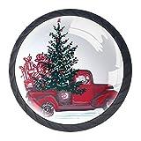 Bennigiry 4 Stück 30 mm festliches Neujahr Kristallglas Schrankknauf Schubladengriff für Küche, Schrank, Kommode, Kleiderschrank usw.