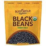 Frijoles negros secos orgánicos de Mayorga, certificado orgánico USDA, sin gluten, sin transgénicos verificados, comercio directo, kosher, frijoles negros, bolsa resellable de 10 lb