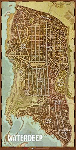 Dungeons & Dragons Waterdeep Vinyl City Map