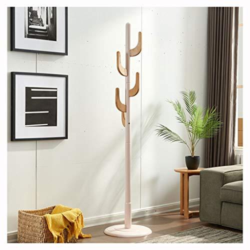 MKVRS Perchero de madera, con 5 ganchos para ropa, bolsos, para entradas, pasillos, perchero de madera maciza (color: C)