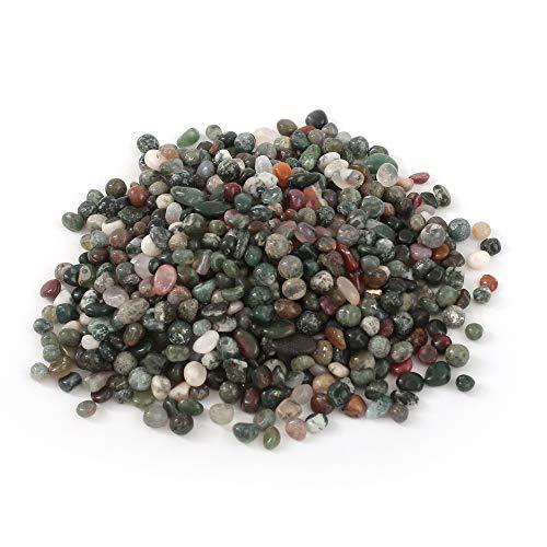 Pierre brillante en cristal de pierres coupées pour guérison Reiki pour aquarium, plantes succulentes ou plantes décoratives (agate émeraude, 6-9 mm)