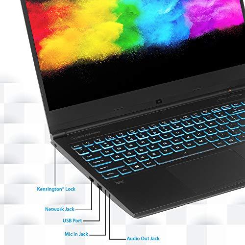 "EVOO Gaming 17.3"" Laptop, FHD, 144Hz, Intel Core i7-10750H Processor, NVIDIA GeForce RTX 2060, THX Spatial Audio, 512GB SSD, 16GB RAM, RGB Backlit Keyboard, HD Camera, Windows 10 Home, Black"