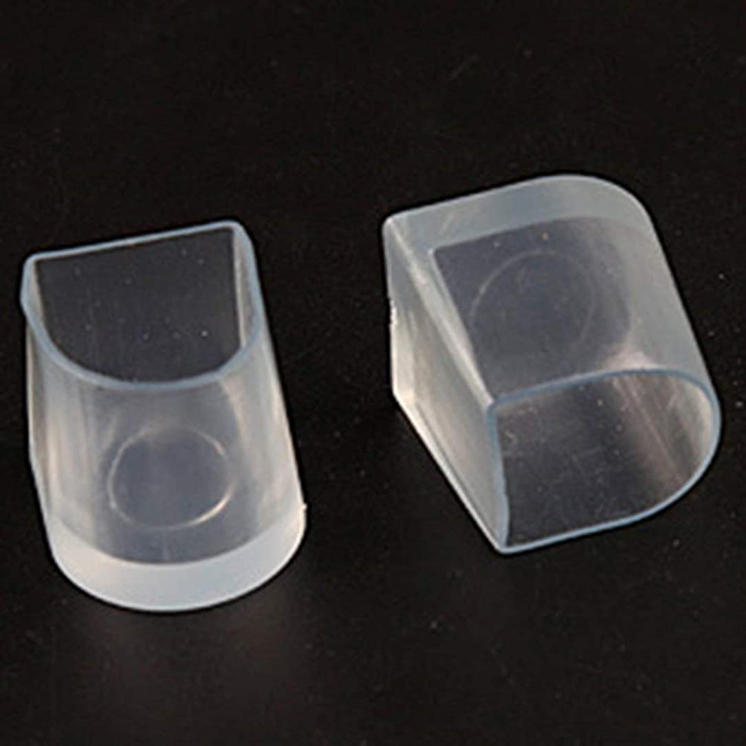 肉腫不規則なハロウィン1ペアハイヒール保護カバーラテンスティレットダンスカバーヒールストッパー滑り止め耐摩耗性 - 透明L