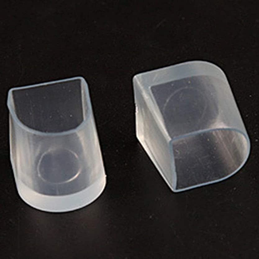 回転する砂利割れ目1ペアハイヒール保護カバーラテンスティレットダンスカバーヒールストッパー滑り止め耐摩耗性 - 透明L