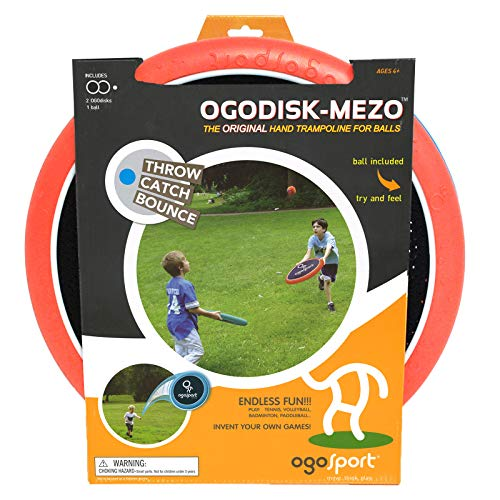 Mezo Max Disc Set with Rubber Koosh Ball - Outdoor Large Bouncy Disk Game for Lawn & Pool - Throw, Toss & Catch - Kids & Adults 4+